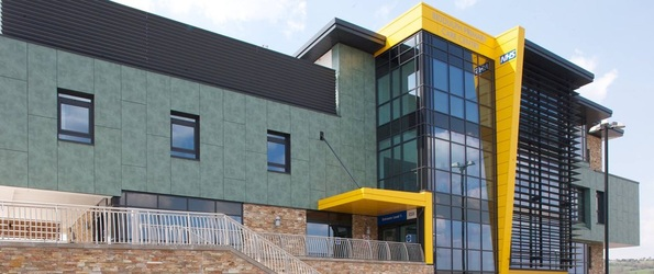 Photograph of the front of the Biddulph Primary Care Centre building